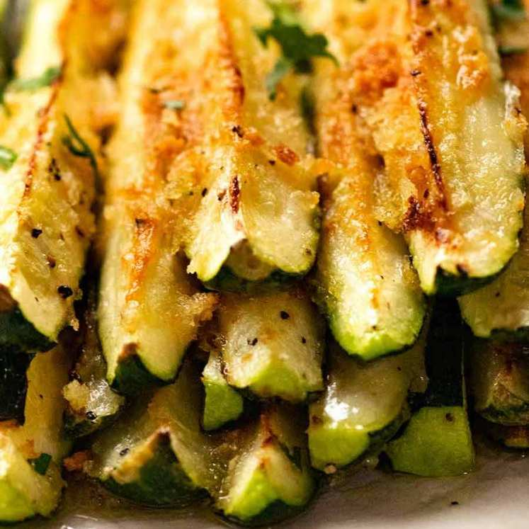 Quick and Easy Baked Zucchini - parmesan