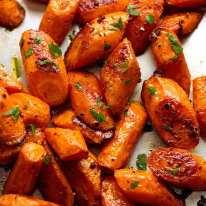 Tray of Roasted Carrots