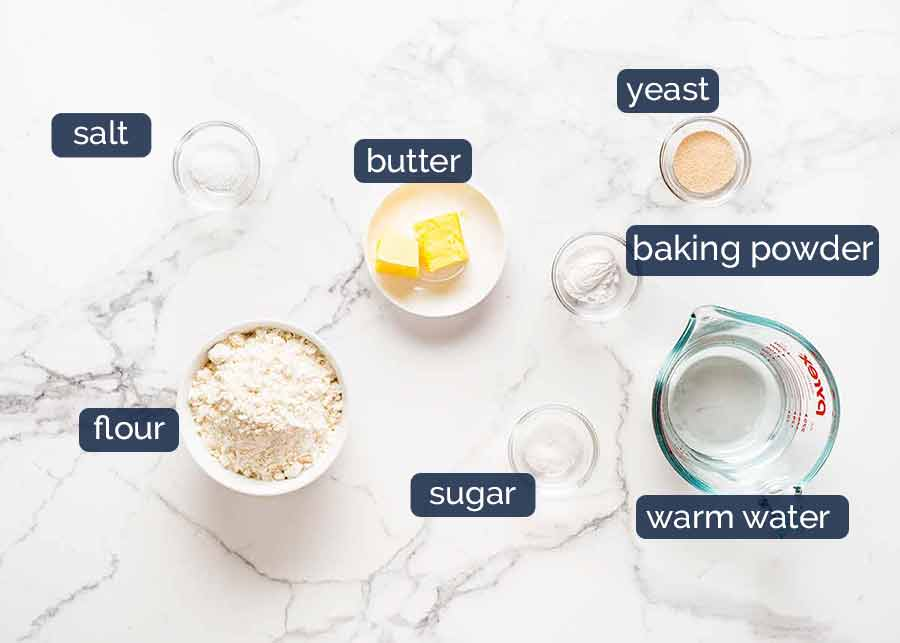 Crumpets recipe ingredients