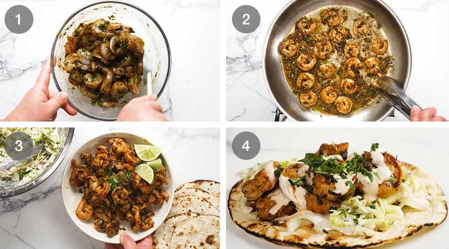 How to make prawn tacos