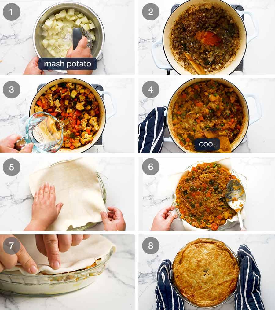 How to make Vegetable Samosa Pie
