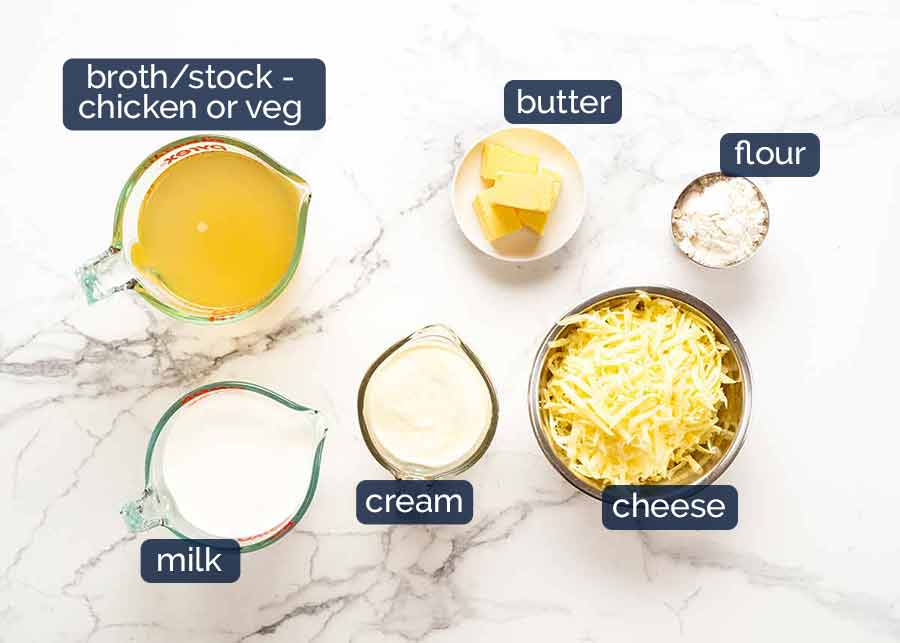 Ingredients in Chicken Tetrazzini - creamy chicken mushroom pasta bake
