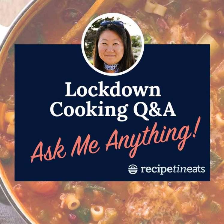Lockdown Cooking Help Hotline