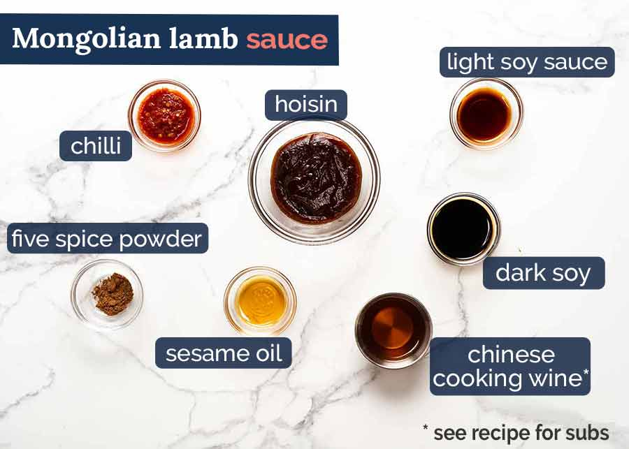 What goes in Mongolian Lamb Sauce