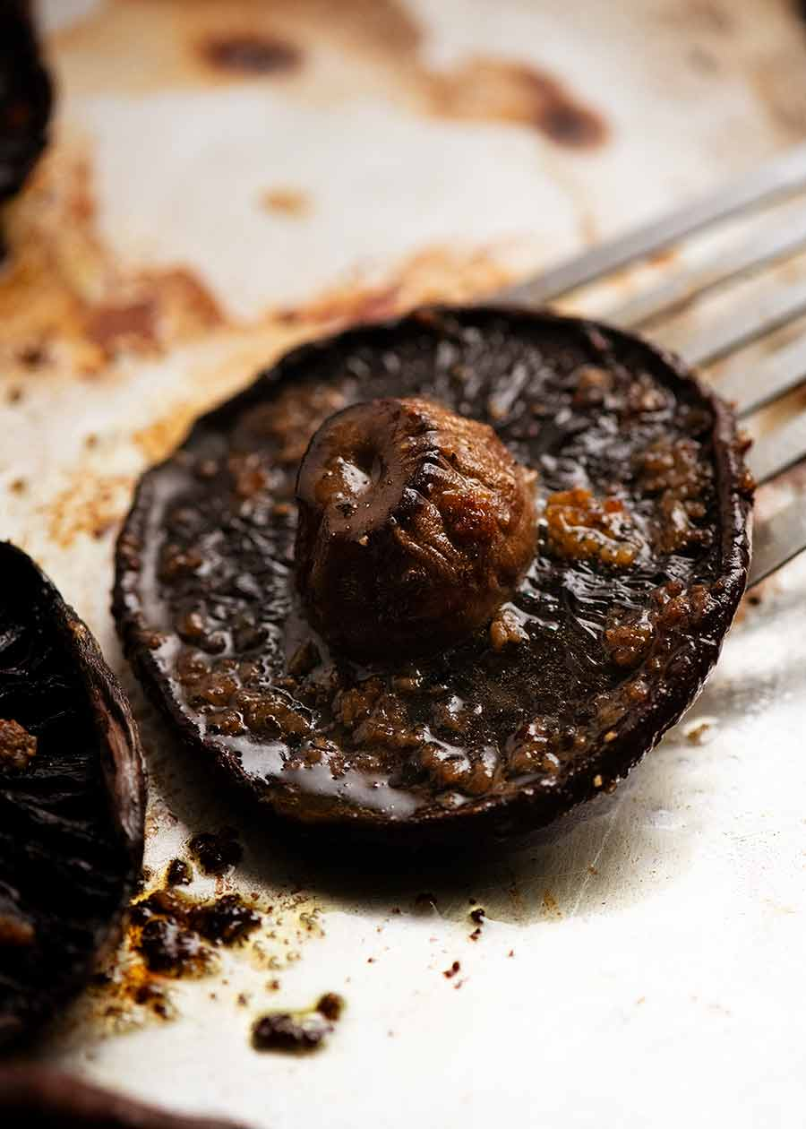 Roasted Mushrooms for Mushroom Burgers