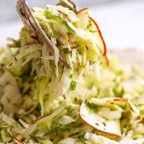 No Mayo Coleslaw (Apple Slaw)