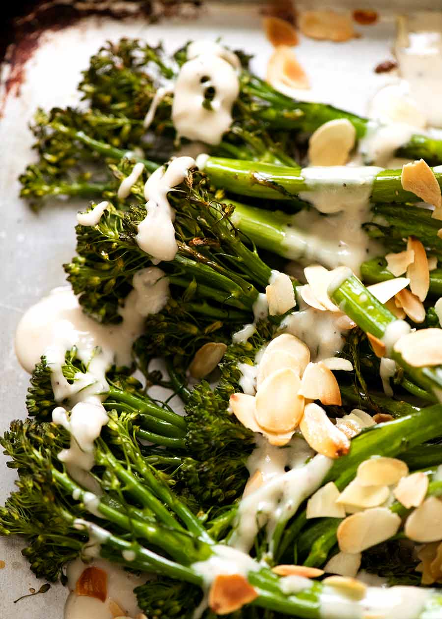 Roasted Broccolini With Tahini Sauce Ottolenghi Recipe Recipetin Eats