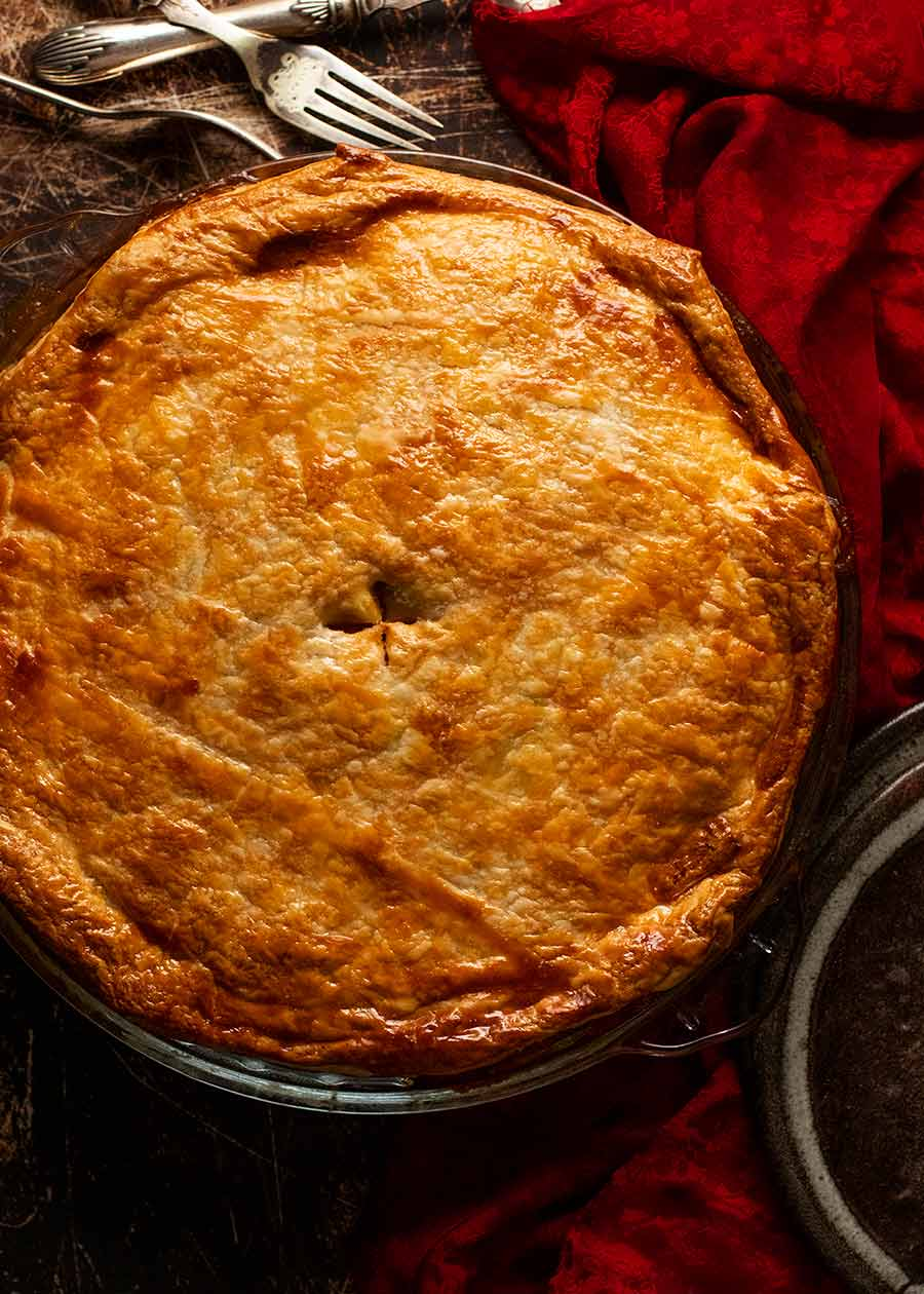 Overhead photo of Vegetable Samosa Pie