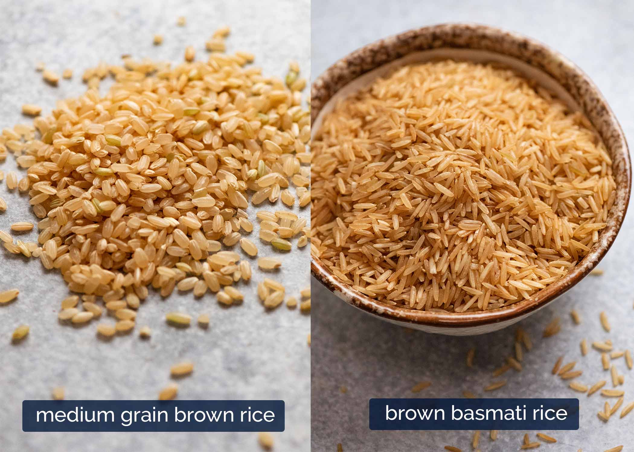 Raw brown rice