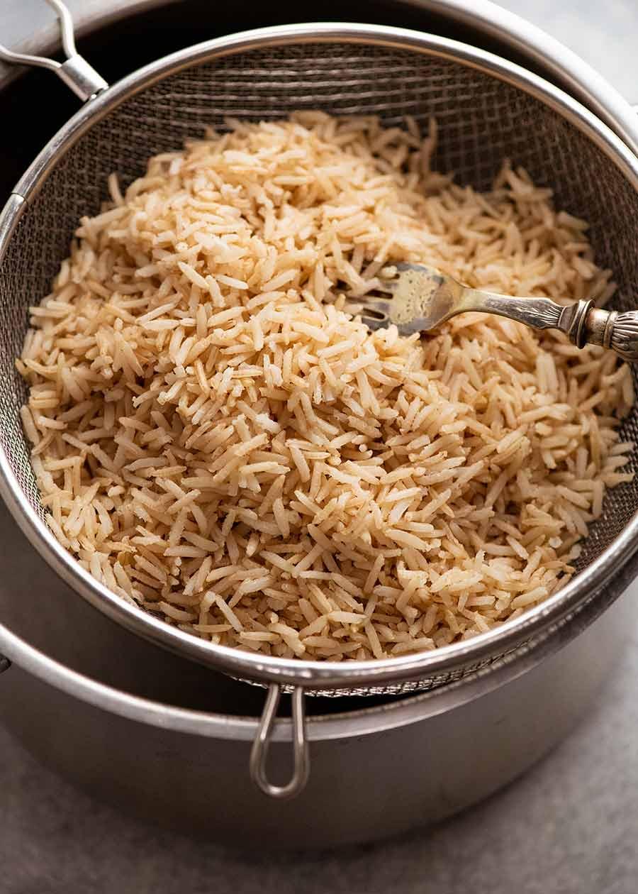 Cooked brown basmati rice