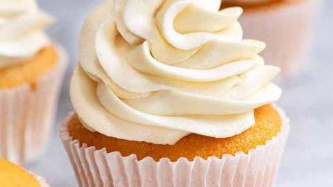 My Secret Less Sweet Fluffy Vanilla Frosting Recipetin Eats