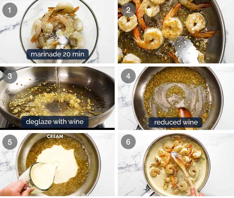 How to make Creamy Garlic Prawns (Shrimp)
