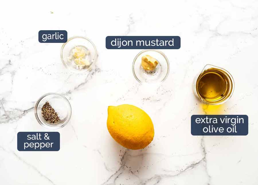 Ingredients in Lemon Dressing