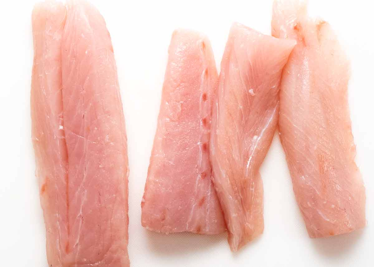 Raw kingfish for Ceviche