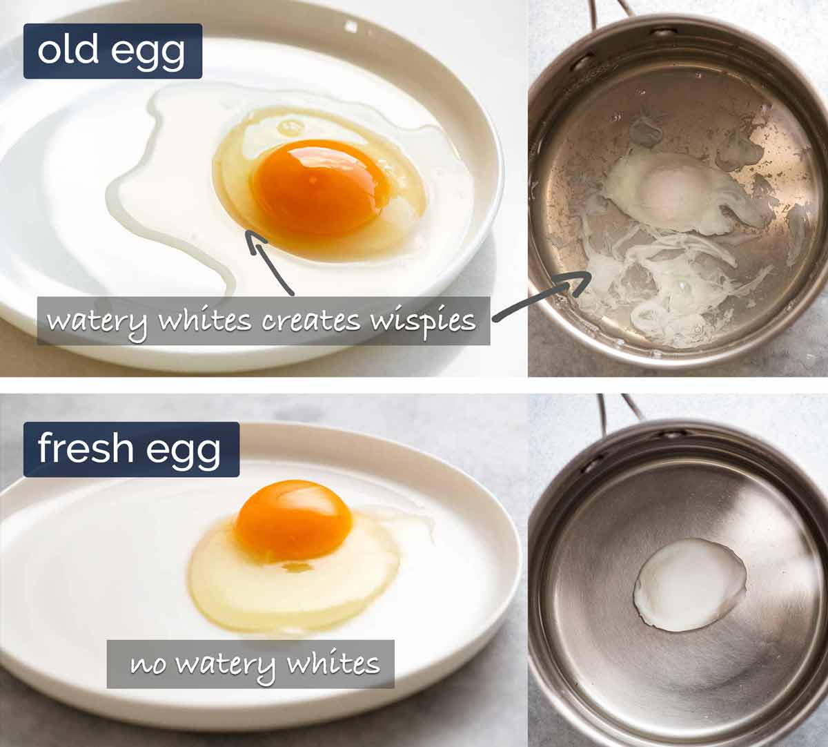 Why fresh eggs are better for poached eggs