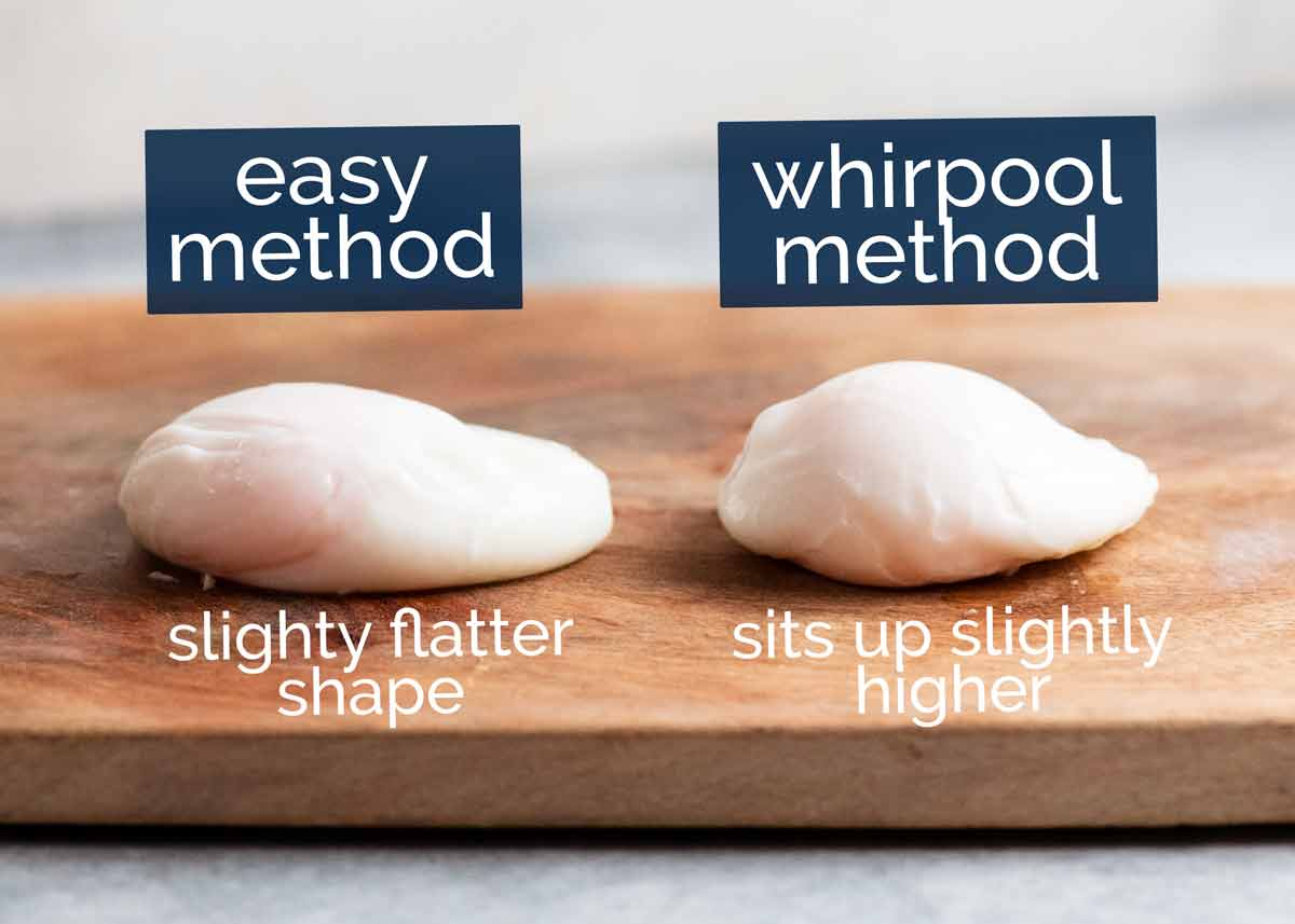 Comparison of easy method vs whirlpool method