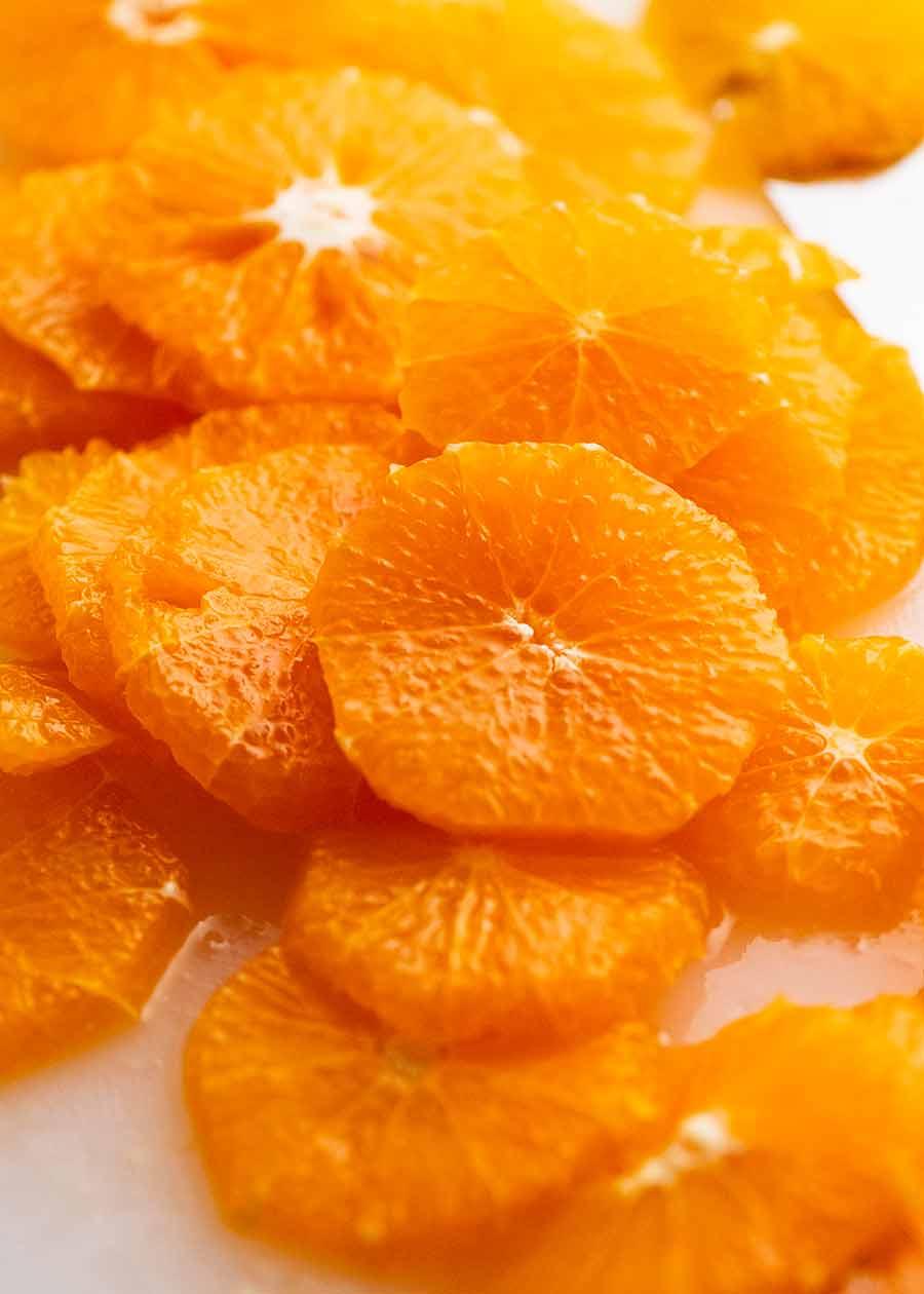 Slices of oranges
