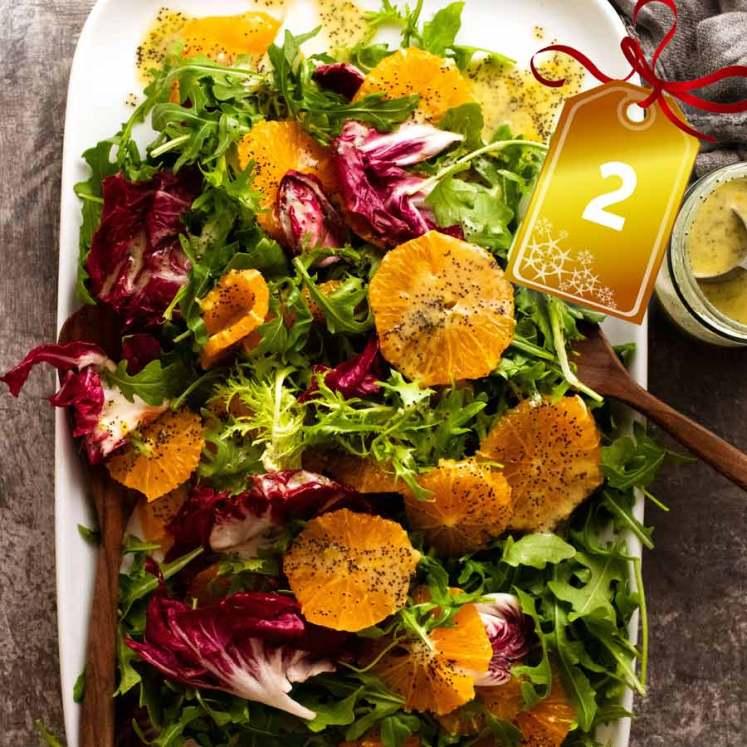 Bitter Leaf and Orange Salad with Orange Poppyseed Dressing