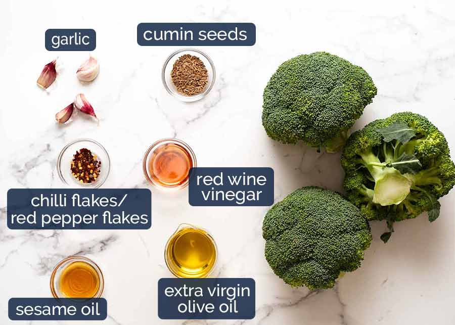 Ingredients in New York Times Broccoli Salad