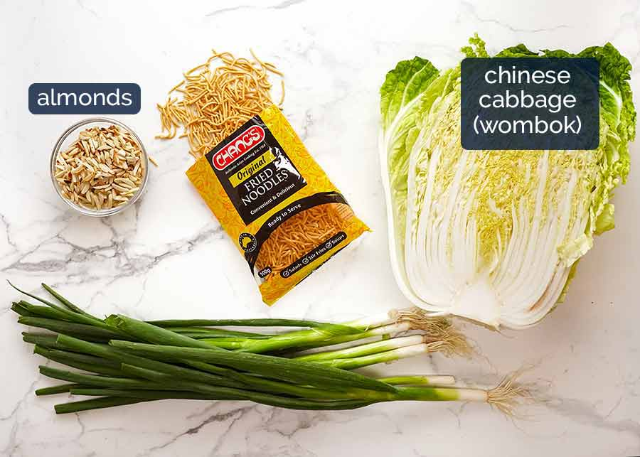 Ingredients in Chang's Crispy Noodle Salad
