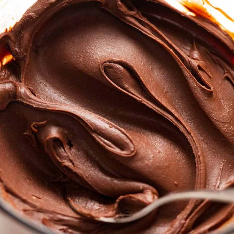 Close up of Chocolate Ganache in a bowl
