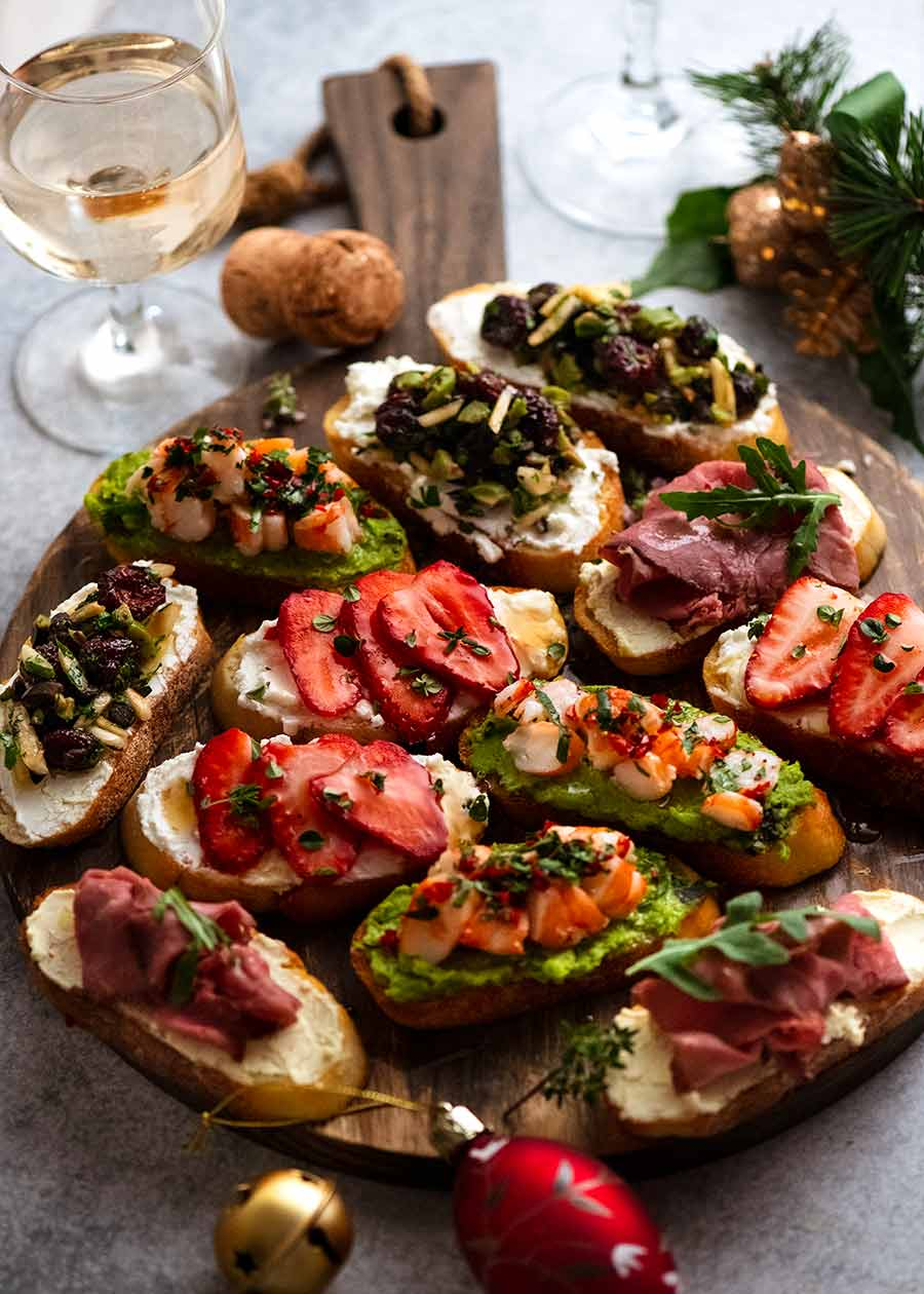 Holiday Crostini 8 Delicious Ways Recipetin Eats