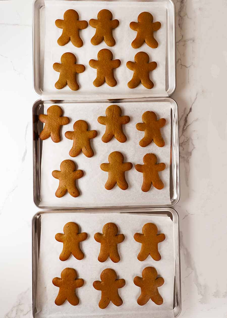 3 trays of freshly cooked Gingerbread Men