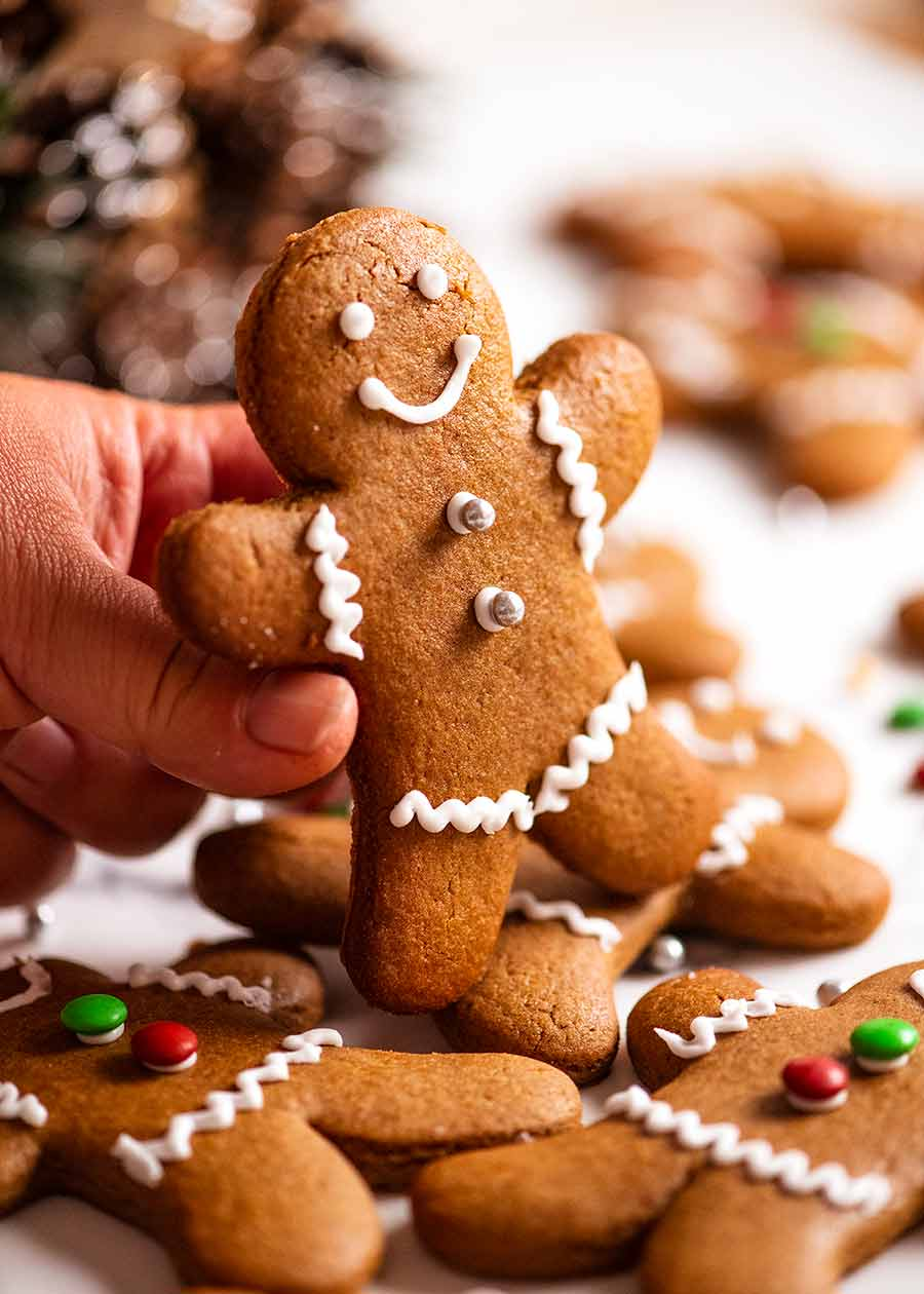 Hand holding Gingerbread Men