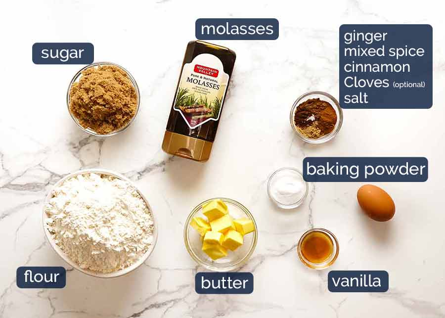 Ingredients in Gingerbread Men
