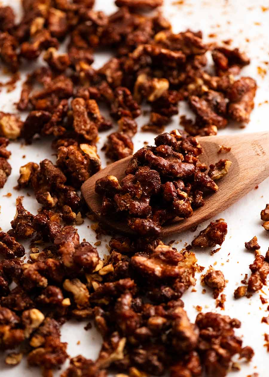 Honey Cinnamon Walnuts for Pomegranate Salad