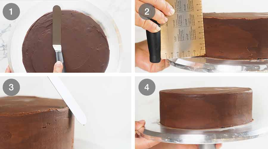 How to frost cake with chocolate ganache so it's perfectly smooth