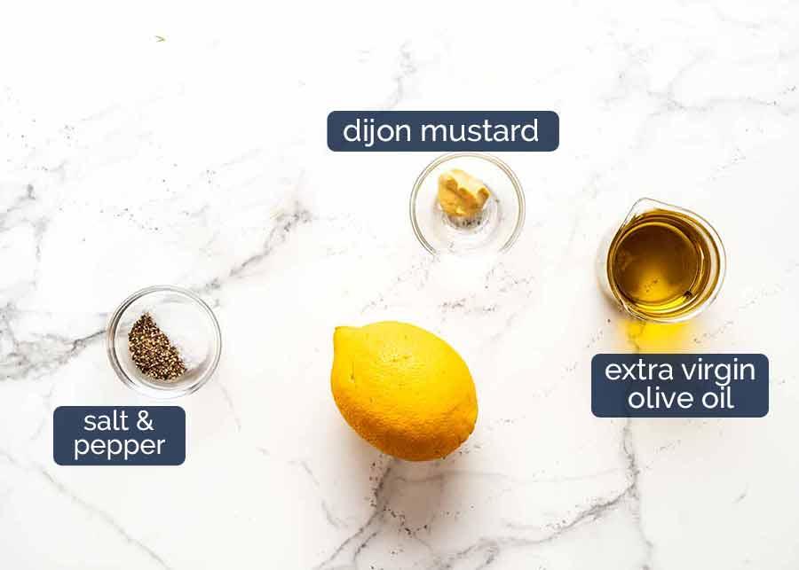 Lemon Dressing for Peach Salad