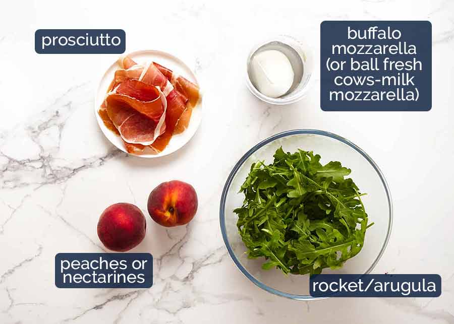 Ingredients in Peach Salad