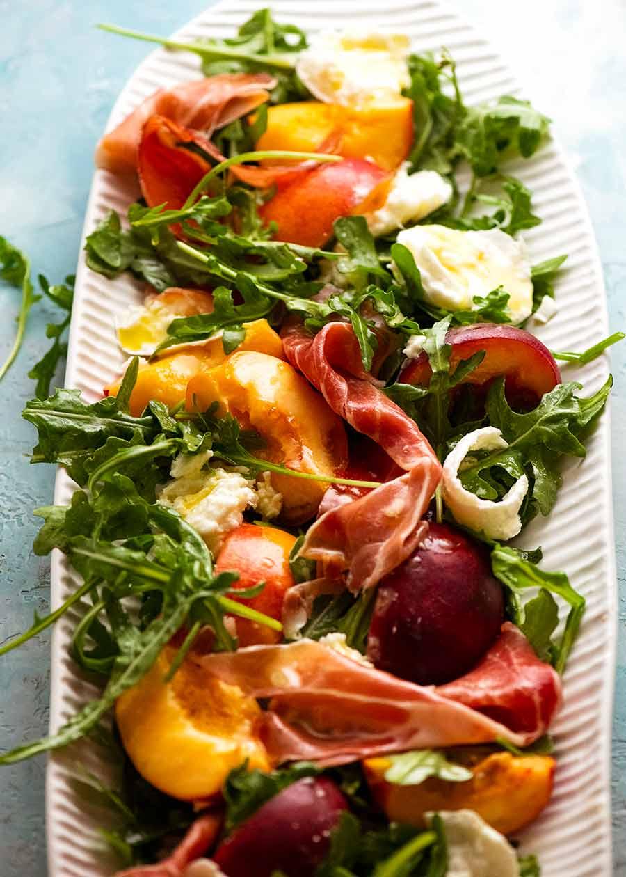 Large platter of Peach Salad