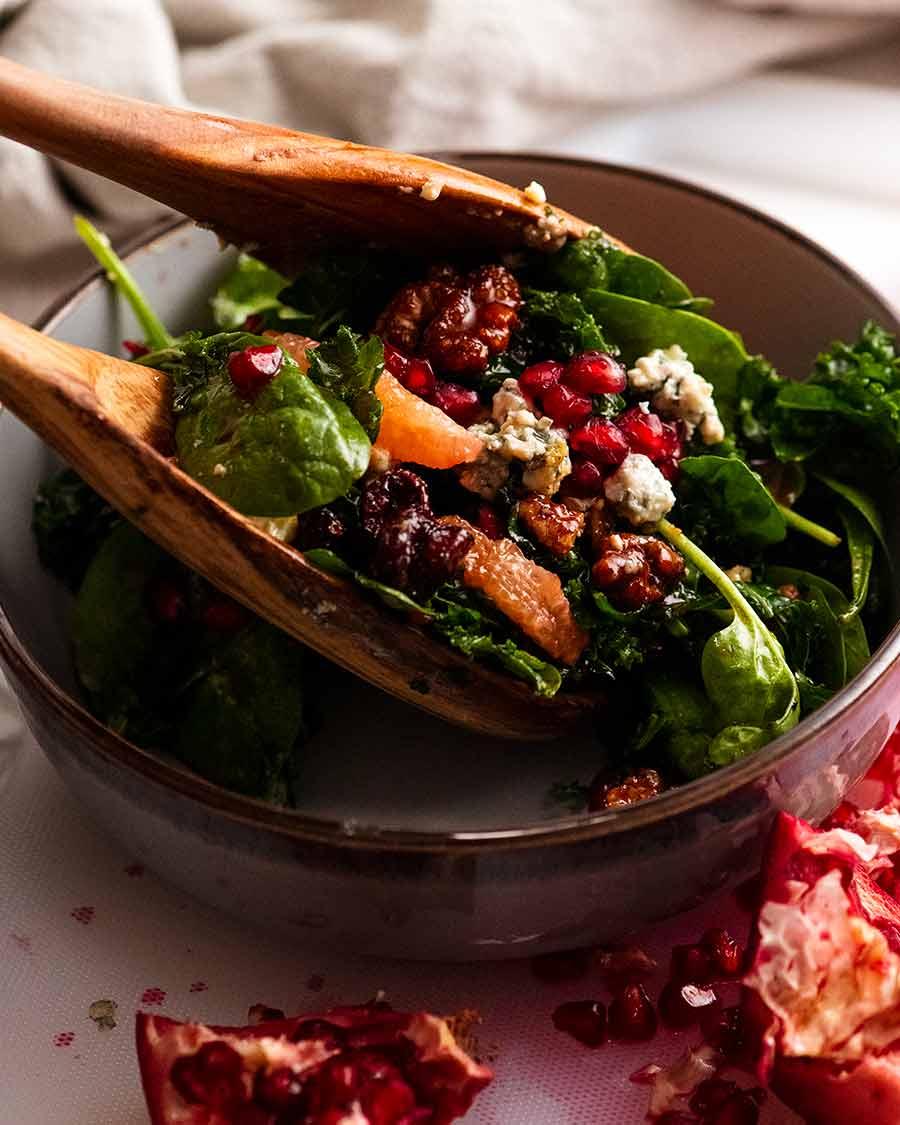 Serving Pomegranate Salad