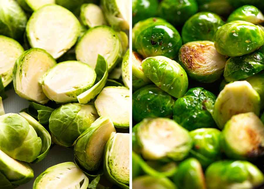 Brussels sprouts - raw vs cooked