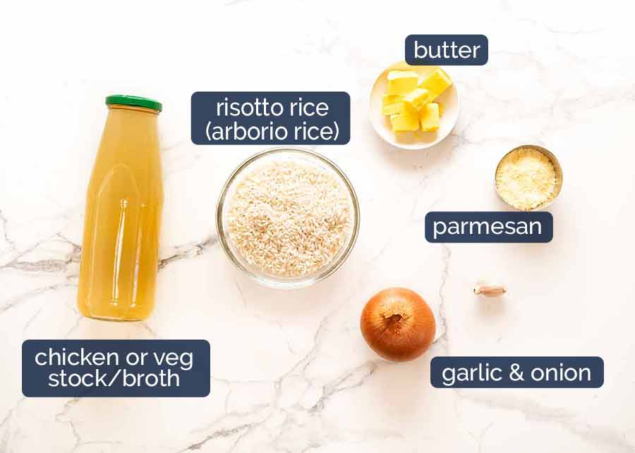 Ingredients in Creamy Baked Risotto
