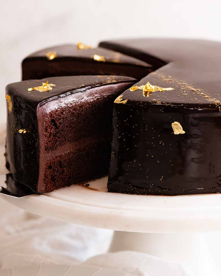 Chocolate Mirror Glaze Cake