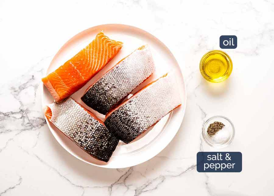 What you need to make Crispy Skin Salmon