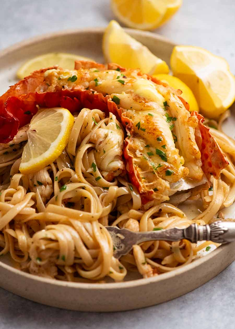 Lobster Pasta with Garlic Butter
