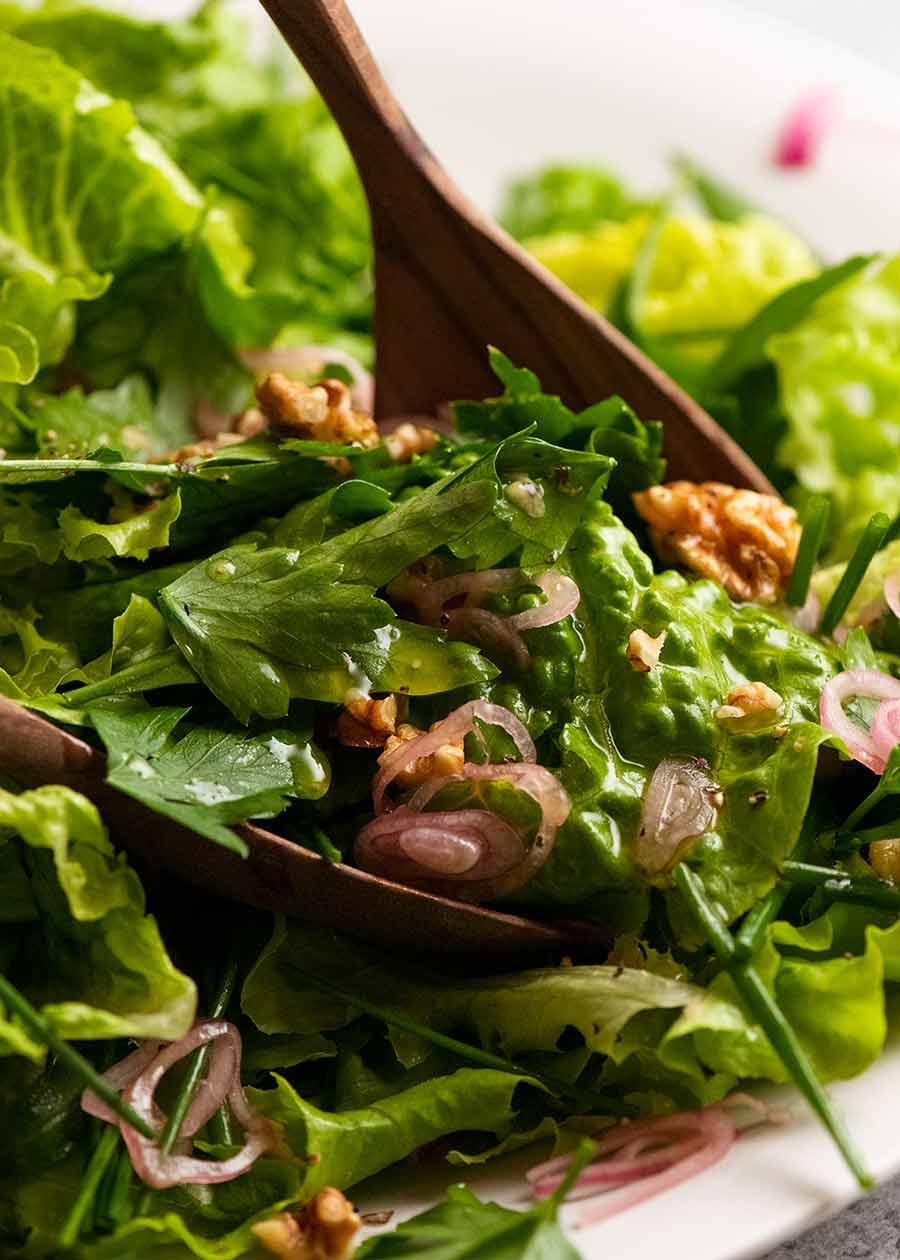 Serving French Bistro Salad