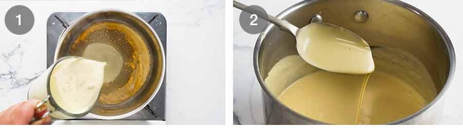 Creamy White Wine Mustard Sauce for Rosemary Crumbed Rack of Lamb