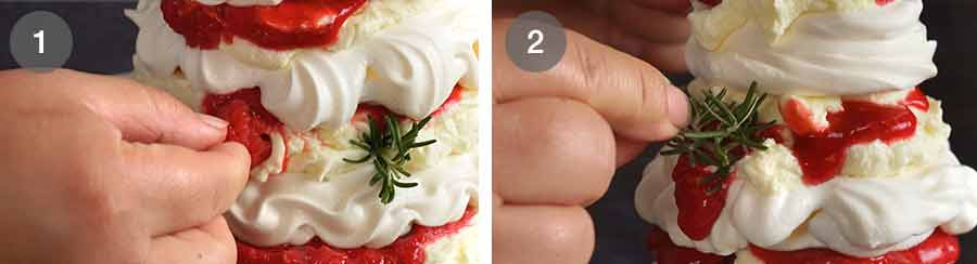How to make Pavlova Christmas Tree Dessert
