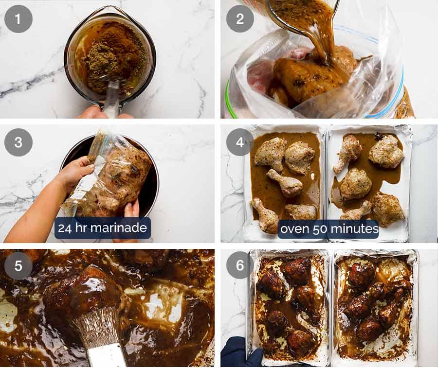How to make Sticky Glazed Christmas Chicken