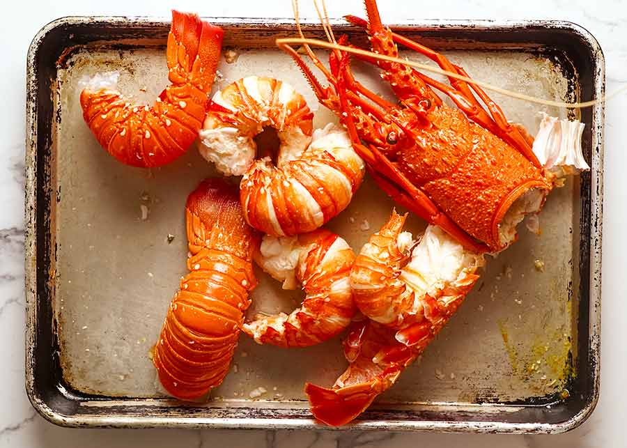 Lobster meat removed from shell