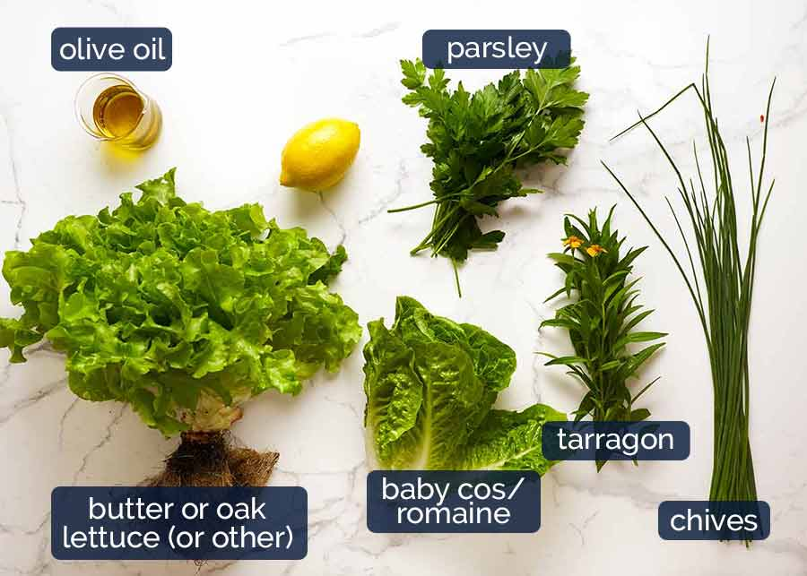 Ingredients in French Bistro Salad