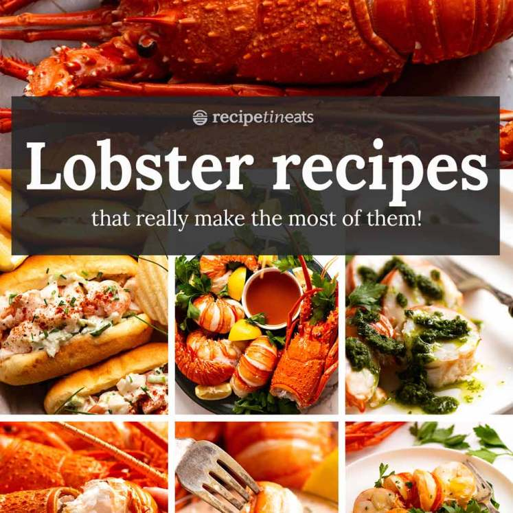 Lobster recipes - cooked lobster and crayfish