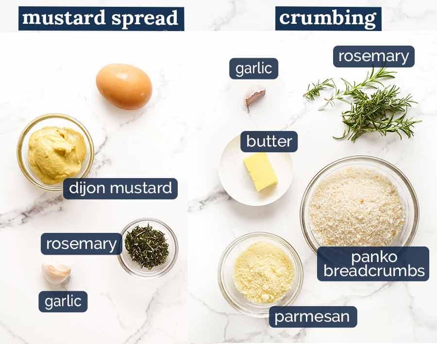 Ingredients in Rosemary Crumbed Rack of Lamb