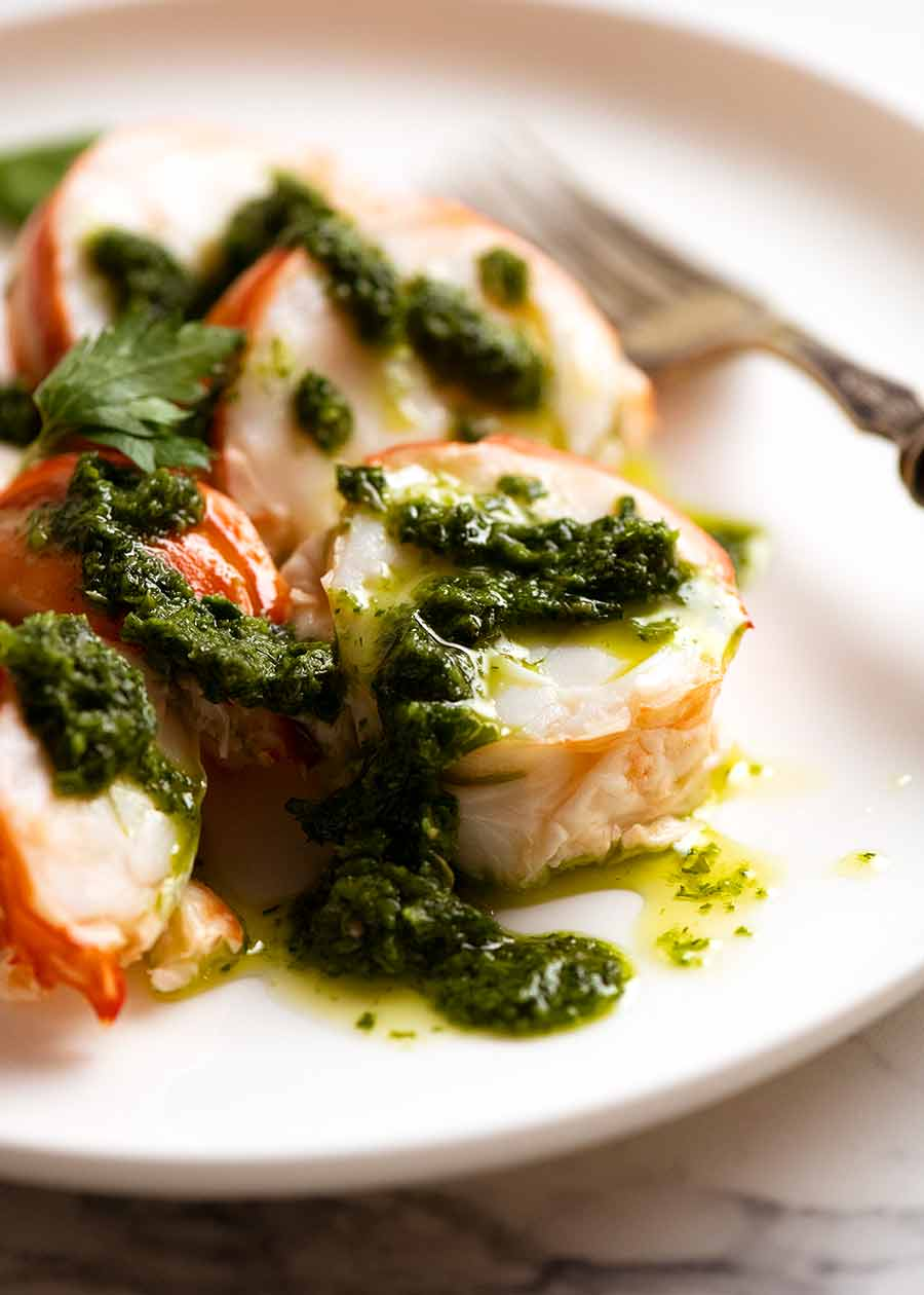 Salsa Verde with Lobster