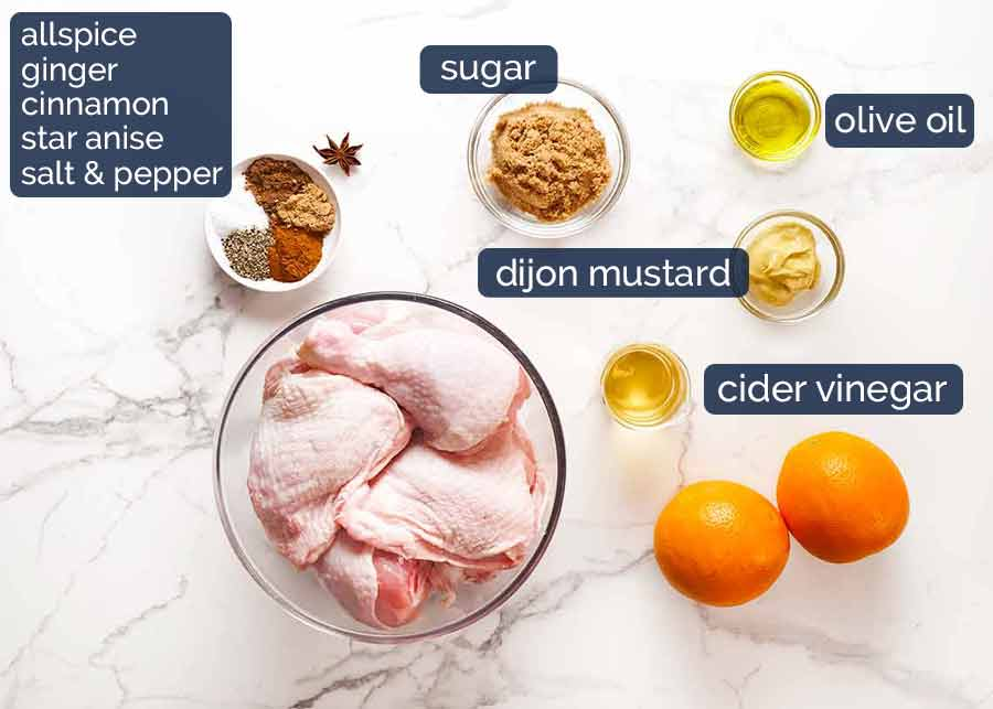 Ingredients in Sticky Glazed Christmas Chicken